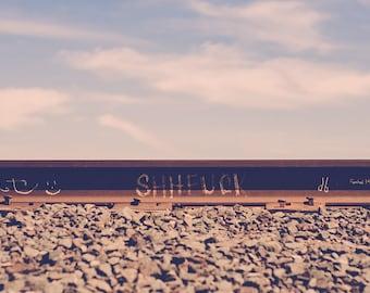 Railroad Graffiti West Texas Vulgar Art Photo Print