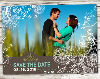 Save the Date Announcement, Save the Date Magnet, Save the Date Postcard, Riffels Save the Date Announcement