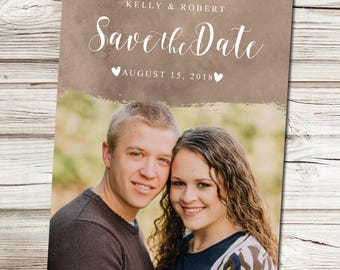Save the Date Announcement, Save the Date Magnet, Save the Date Postcard, Heart Save the Date Announcement