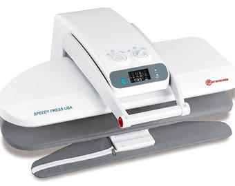 Ironing Press With Integrated Sleeve Board 1400 Watts! for Dry or Steam Pressing, 38 Powerful Jets of Steam, 100lbs of Pressure Speedy Press