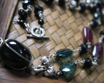 Onyx and Tourmaline necklaces