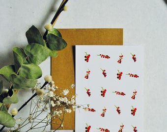 Map Red berries A6