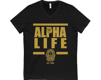 Copy Of Alpha Life VNeck TShirt  Black