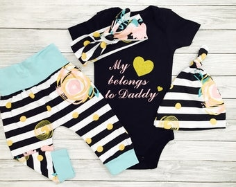 Baby Girl Clothes, Baby Clothes Girl, Baby Girl, Infant Girl Clothes, Baby Girl Clothes Newborn, Newborn Girl Outfit,Baby Girl Clothes Daddy