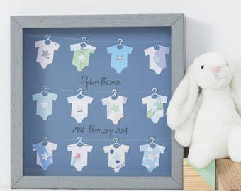 New baby gift,Personlised keepsake, Box frame, Using your own cards,Birthday gift,Christening gift,Baby shower Gift