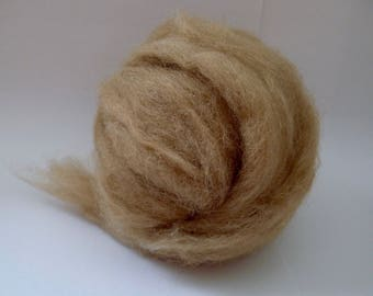 Alpaca Roving Fiber for Spinning - 4oz Fawn
