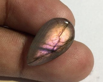 5.8 Cts 100% Natural Medagascar's Labradorite Cabochon Purple Multi Fire Polished Cabochon Healing Quartz Pear Shape 20x11x3 mm N#1477-27