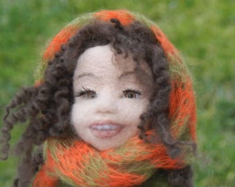 Smaranda - Felted doll - Felted art dolls - Felted art - Needle felted doll - Ooak art doll - Doll sculpture - Home decor doll