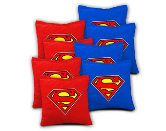 Superman Cornhole Bags - Set of 8