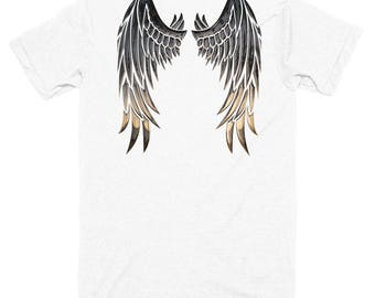 wings of an angel Short sleeve soft t-shirt