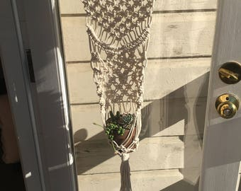 Macrame with plant holder