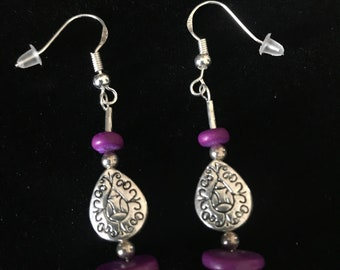 Beautiful Hand-Made with some Vintage Sterling Silver Beads and other Quality Materials Earrings