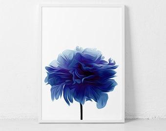 Royal Blue Flowers, Royal Blue Decor, Flower Prints, Blue Flower Print, Lapis Lazuli, Royal Blue Prints, Royal Blue Decorations Flower Print