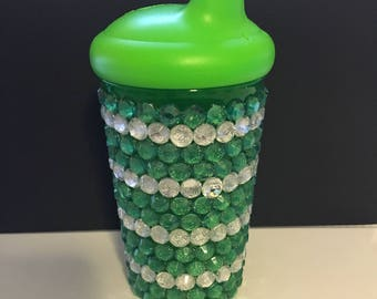 Green and Silver sippy cup