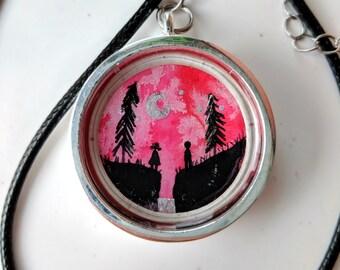 Pink Ravine Pendant