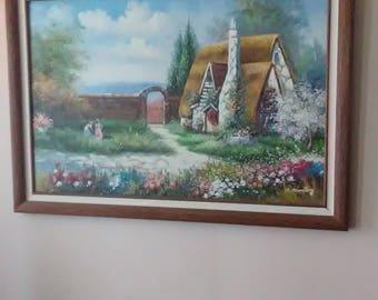 C. Manning original oil paint on canvas RARE