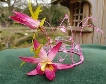 Fairy Coronet/Tiara - Fuchsia