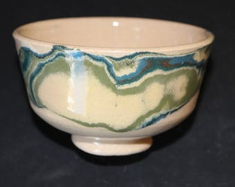 Ceramic tea cup 12 Mokume gane