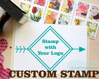 Custom Rubber Stamp 2 inch Logo Stamp, Your 'Logo Design' Stamp, Bussiness stamp, Wooden Rubber Stamp, Personalized Rubber Stamp, Logo Stamp