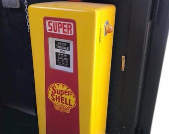 PETROL PUMP Super Shell life size 155 cm Surtidor de Gasolina Super Shell