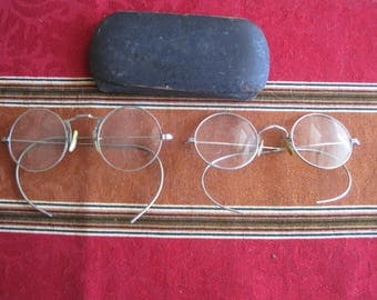Two Pair Vintage/Antique Glasses with Case Both Gold Fill marked