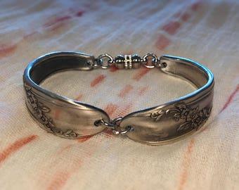 Queen Bess II Pattern - Handmade Bracelet from Vintage Silverware