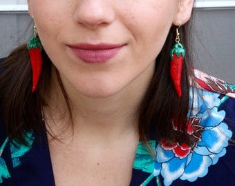 Red Pepper Handcrafted Polymer Clay Earrings