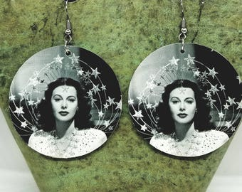 Bombshell Large Circle Drop Earrings