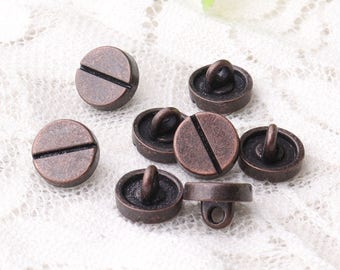 round buttons with a crevice 10pcs 9*6mm small buttons  copper buttons metal zinc alloy buttons shank buttons sewing buttons