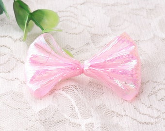 fabic bow ties 4pcs pink bowknot for baby girls hair accessories Hair Bow Ties 58*37mm