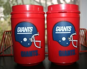 Vintage 1970s New York Giants Thermos NFL Mug Cup Retro Football