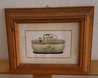 Framed Angel Bath Tub