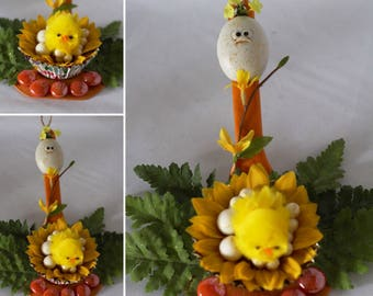 Kitchen or Dining Easter Decor Handcraft Decorated Spatula