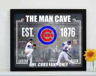 Custom Chicago Cubs All Star's Mancave Design...