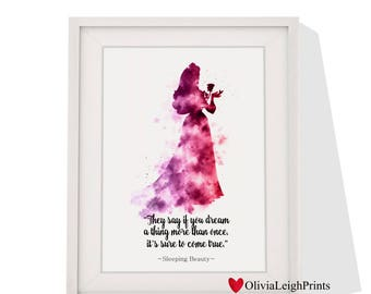Disney Sleeping Beauty Art print Instant Download