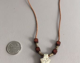 Moose antler Christian fish with cross