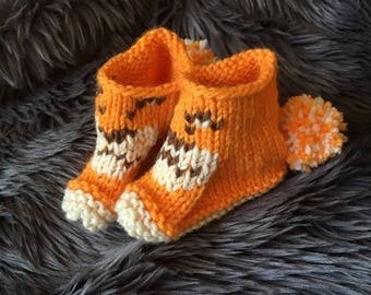 Lion Baby Bootie // Baby Gift // Lion Baby Sock // Baby Booties // Baby Socks //
