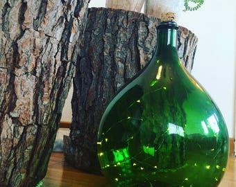 Demijohn bottle green colored