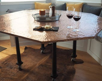 Hammered Copper Table