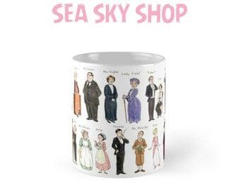 11 Oz, 15 Oz Downton Abbey Character's Portrait Mugs, Downton Abbey Merchandise Mugs, Downton Abbey Gifts, Downton Abbey Show Mug