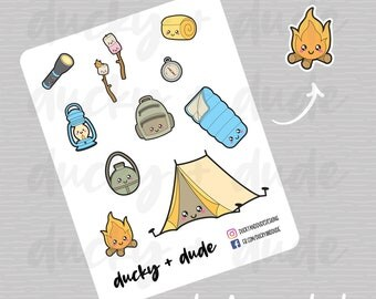 Camping / Scouts Planner Stickers
