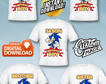 Sonic Family Iron On Transfer, Sonic Family Birthday Shirt DIY, Sonic Family Shirt Designs, Sonic Family Printable, Sonic, Digital Files
