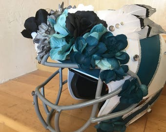 Floral Football Helmet