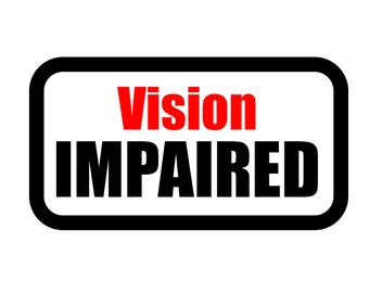 Medical Patch - VISION EMPAIRED - Embroidered