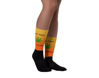 Don't Panic It's Organic Funny Socks