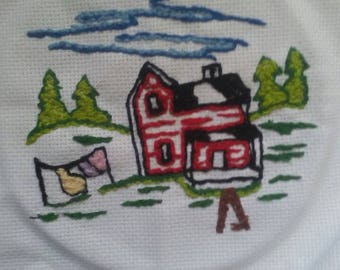 Farm house embrodery