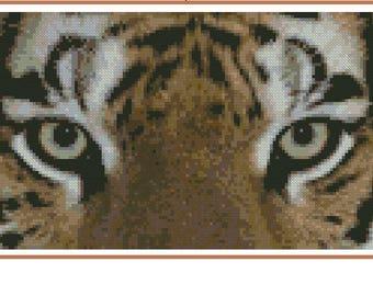 Cross stitch chart Tiger TG-003