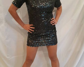 ark and company sequined dress size small