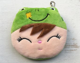 Coin Purse - super cute frog coin purse with face