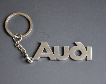 Audi keychain keyring stainless steel